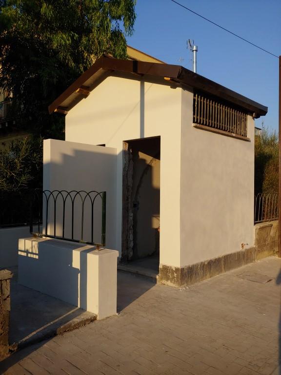 I bagni della stazione di Misterbianco in corso di ristrutturazione (attualmente in stand-by). Foto di Vincenzo La Rosa.